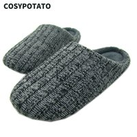 Men Home Slippers Cotton Fabric Footwear Nonslip TPR Sole St...