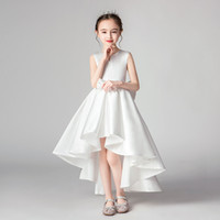 Elegant Ball Gown Flower Girls Dresses For Weddings Sheer Ne...