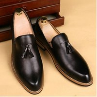 2019 Size 38- 47 England Leather Loafers Pointed Men dress sh...
