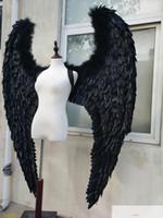 NEW Customized des Erwachsenen großen schwarzen Federflügel Teufel für Modell Bühnenshow Laufsteg Displays Schießen Requisiten Mode-Accessoires
