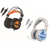Recém A6 USB 7.1 Stereo com fio fones de ouvido jogo de jogos de fone de ouvido sobre a orelha com controle de voz mic para computador portátil gamer