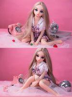 Kişilik 63 cm Mini Gerçek TPE Seks Bebekler Japon Anime Tam Oral Aşk Bebek Gerçekçi Oyuncaklar Erkekler için Seksi Vajina Yetişkin Silikon Bebek