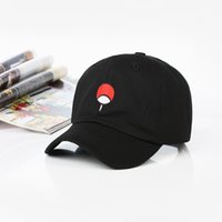 ad60244363dd1 100% Cotton Japanese Anime Naruto Dad Hat Uchiha Family Logo Embroidery Baseball  Caps Black Snapback Hat Hip Hop for Women Men