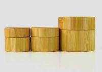 Vape 30g pots de cire en bambou cosmétiques pots en céramique nouveau bambou naturel en bois fait sur commande en plastique visage conteneur