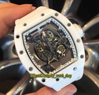 Eternity RF En Iyi Sürüm 055 Nano-Seramik Kompozit Durumda İskelet Arama Japonya Miyota Otomatik RM 055 Mens İzle Lastik Bant Spor Saatleri
