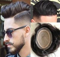Peluca para hombre Base de seda completa Troupee Chino Virgen Remy Sistema de cabello humano Topper de seda llena Hombres Reemplazo de pelo para hombres Envío gratis