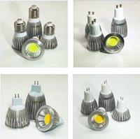 E27 E14 GU10 MR16 GU5.3 LED COB Spotlight Dimmable 3w Spot Light Ampoule haute lampe DC12V ou AC85-265V lumières LED