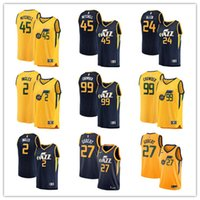 New Arrival. Men s  45 Donovan Mitchell 24 Grayson Allen 27 Rudy Gobert 99  Jae Crowder 3 Fanatics Branded Navy Jersey ... c64a45578