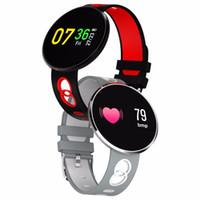 Pressão CF006H Pulseira inteligente Sangue Heart Rate Monitor relógio inteligente Passometer impermeável de Fitness Rastreador de pulso para o iPhone iOS Andorid