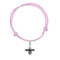 Mode Coréen Cire Cordon Bracelet Joint Antique Lettre En Argent J'adore Softball Charme Bracelet Haute Qualité Cadeau Bijoux
