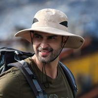 Wide Brim Hats Men's Hat Sunscreen UV Breathable Wear-resistant Fisherman Fishing Shade Mountaineering Big