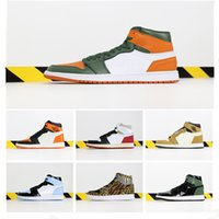 2019 New Arrival Jumpman 1 High Solefly x Green Orange Top C...