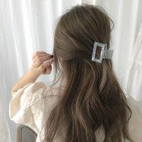 Corée Style Creux Square Square Pinces Acide Acétique Couleur mélangée Filles Grains de cheveux pour femmes Géométriques Scrunchies PoneyTail Head Clips Bijoux Accessoires