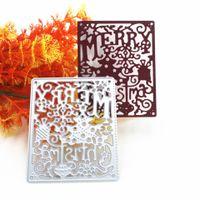 Joyeux Noël Metal Cutting Dies pour Scrapbooking Nouvelles matrices pour 2019 Die Cut Stitch Craft Die pochoir Troqueles outil de carte de voeux