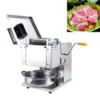 110V / 220V à haut rendement électrique viande Machine à découper la viande de commerce Cutter Slicer simple double foyer de coupe de viande Machine Slicer