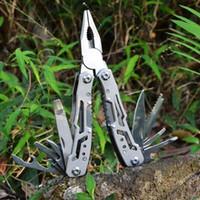 جديد في الهواء الطلق edc فضة الطي أدوات الجيب الطي التخييم أدوات بقاء سكين متعدد أداة كماشة كونبينيشن