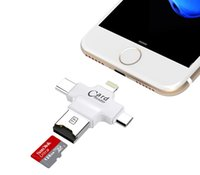 4 in 1 TF Micro USB OTG iPhone Card Reader Hub Apple card re...