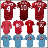 10 Darren Daulton Philadelphia Jersey Phillies 7 Maikel Franco 99 Mitch Williams 4 Lenny 20 Mike Schmidt Genähte 2019 New Jerseys