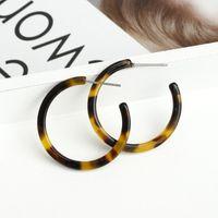 Pendientes colgantes ovales de resina acrílica para mujer Pendiente de aro grande Acetato Brincos Joyería Geometría de moda Pendientes de círculo grande