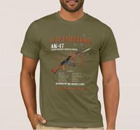 Seltene Sowjetunion russische Armee Kalaschnikow-Gewehr-T-Shirt O-Ansatz Baumwolle Kurzarm-T-Shirt New Größe S-3XL
