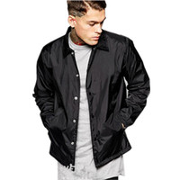 Mode Automne Printemps Retro Marque Vestes Coaches Manteau Turn Down Col Bomber coupe-vent Homme Veste New Grand