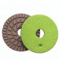 10 Piezas 7 Pulgadas D180mm Almohadillas de Pulido en Seco 7mm Espesor Disco de Molienda Almohadillas de Resina para Piso de Concreto y Terrazo