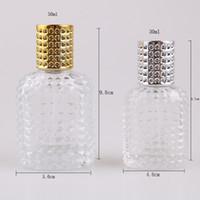 Garrafa de vidro com spray vazio com garrafas atomizador recarregáveis 30ml 50ml abacaxi garrafa portátil frasco de perfume de vidro spray T2I5813