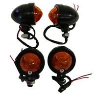 Модификация деталей мотоцикла ретро-металлическая рулевая лампа командного поворота