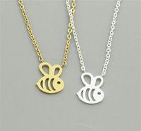 European Fashion Little Bee Anhänger Halskette Gold Silber Überzogene Frauen Mädchen Halsketten Edlen Schmuck Valentinstag Geschenk B005