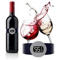 Bira ev mutfak aletleri Promosyon Yeni için paslanmaz çelik şarap sıcaklık sensörü kırmızı şarap bilezik termometre