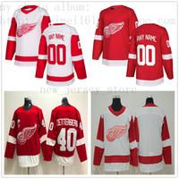 a3b42c80459 Custom Detroit Red Wings Hockey Jersey New 3 Nick Jensen 30 Justin  Kowalkosli 55 Niklas Kronwall Anthony Mantha Frans Nielsen Thomas Vanek