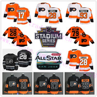 2019 Stadium Series 28 Claude Giroux 79 Carter Hart 17 Wayne Simmonds 53 Shayne Gostisbehere Voracek All-star Philadelphia Flyers Maglie