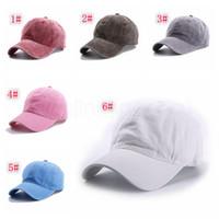 15styles maciza natural damas gorra de béisbol del casquillo del sombrero de algodón lavadas hombres al aire libre las mujeres sunhat parte del snapback favor FFA4081-2