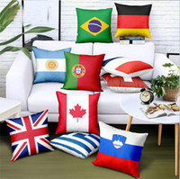 크리 에이 티브 국기 인쇄 던져 베개의 경우 선물 소파 자동차 의자 쿠션은 분리 홈 장식 베개 쿠션 커버를 커버