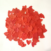 Wedding decoration red heart-shaped paper atmosphere props hand rainpaper peach heart 2000 pieces