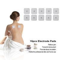 10PCS / الكثير وسادات القطب الكهربائي لعشرات الكهربائية الوخز بالإبر العلاج آلة رقمية العضلات تحفيز التخسيس مدلك تصحيح الوسادة استبدال