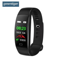 Greentiger F64HR Smart-Armband-Mann-Fitness Tracker-Farben-Schirm IP68 wasserdicht Heart Rate Monitor Smart-Armband Android