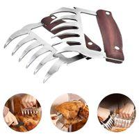 식품 그릴 액세서리 바베큐 도구를 조각 고기 포크 슈레더 발톱 스테인리스 BBQ 빼서 돼지 고기 클램프 나눠