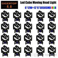 Freies Verschiffen-heiße Verkäufe 6x12W 4IN1 RGBW Led Cube bewegliches Hauptlicht des neuen Entwurfs-Qualitäts-Beam-Moving Light mit einem einzigartigen Design