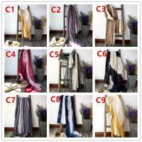 Nouvelle écharpe d'hiver Femmes Simple Pure Couleur épaisse Couleurs chaudes Écharpes Vintage Coton Foulard en coton Encadré en tricot Accessoires de vêtements châle