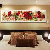 5D Rose Wall Алмазные вышивки Картина DIY Rhinestone Вышивка крестом Craft Kit Home Decor Rose Pattern