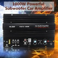 Toptan 12 V 1000 W Araba Kamyon Amplifikatör Ses Güçlü Bas Subwoofers Hoparlör Hi-Fi Amp Subwoofer Güç 001