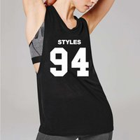 Womens Sleeveless T- Shirts Summer GYM Streetwear Letter Prin...