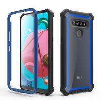 Для LG K51 Stylo 6 5 4 Plus V50 G8 Aristo 3 Мода Hybrid Combo 3 в 1 Defender амортизирующие Защитные чехлы крышка телефона Бесплатная доставка