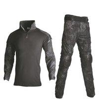 Охотничьи наборы Хань Дикий открытый пейнтбол одежда тактические боевые камуфляжные рубашки грузовые брюки костюмы с коленами локоть