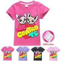 ME CONTRO TE Mignon Chiens Printed enfants T-shirts 4 couleurs filles 6-14t 100% coton t-shirt vêtements de créateurs pour enfants filles SS300