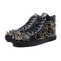 2019 New Designer Studded Spikes Flats shoes Red Bottom shoe...