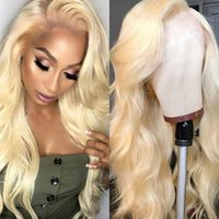 613Blonde Body Wave Lace Front Human Hair Wigs Brazilian Ful...