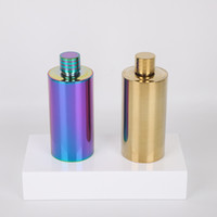 500ML Stainless Steel Hip Flask Colorful Wine Jug Flagon Wine Pot Outdoor Portable Plated Cylinder Shape Hip Flasks GGA2592