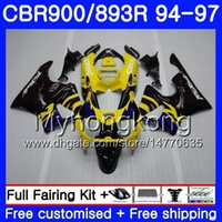 Kit voor HONDA CBR900RR CBR 893RR 1994 1995 1996 1997 Body 260HM.21 CBR 893 CBR900 RR CBR893 RR CBR893RR 94 95 96 97 Hete gele zwarte kuip